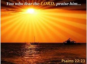 Psalms 22 23 You Who Fear The Lord Powerpoint Church