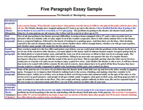 example essay writing five paragraph essay writing examples writing the body