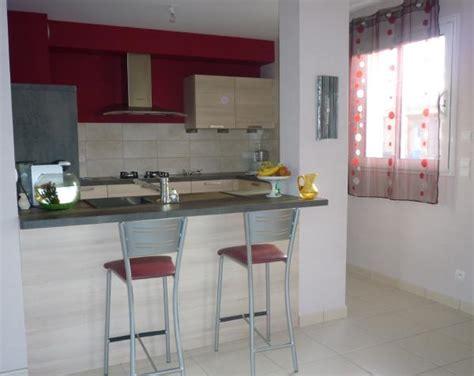 idee bar cuisine ouverte cuisine ouverte photo 1 4 bordeau et gris