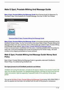 Male G Spot  Prostate Milking And Massage Guide By