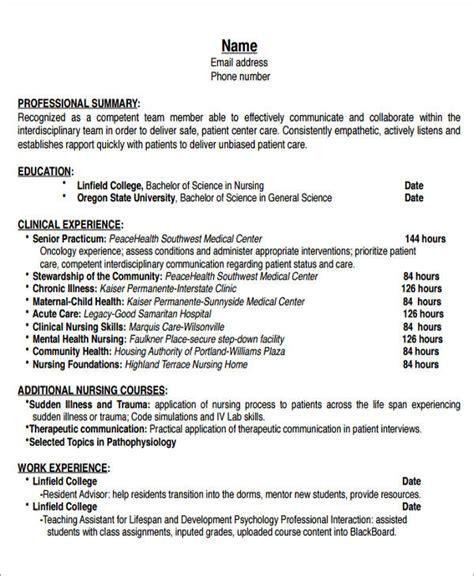 sample  nurse resume templates  ms word