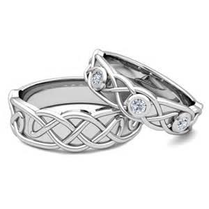 celtic wedding ring sets matching wedding band platinum celtic wedding ring