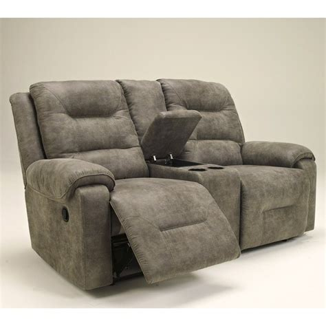 Dual Reclining Loveseat With Console Microfiber by Furniture Rotation Power Reclining Loveseat