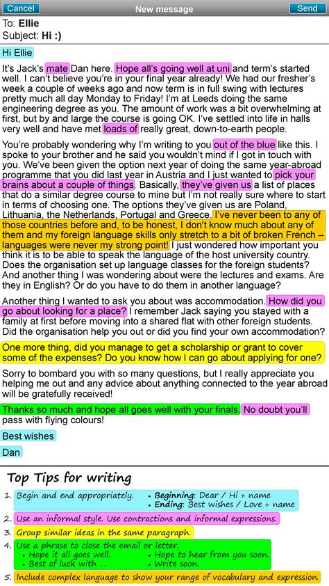 informal email  letter learnenglish teens british