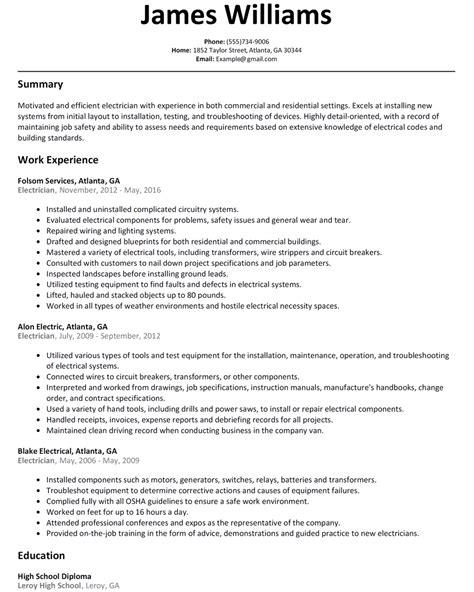 Resume Electrician commercial electrician resume bijeefopijburg nl