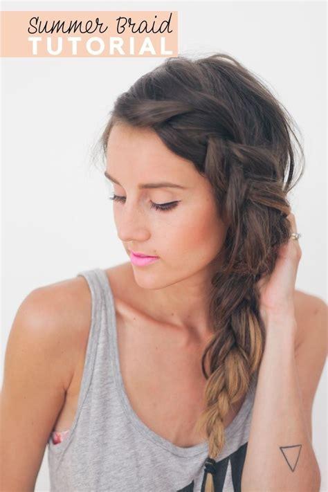 pretty braided hairstyle  summer popular haircuts