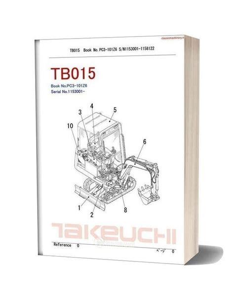 takeuchi tb015 parts manual