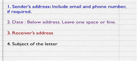 order letter format english letter writing skills class