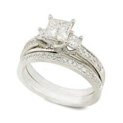 princess cut wedding ring sets white gold princess cut wedding ring set the wedding specialists