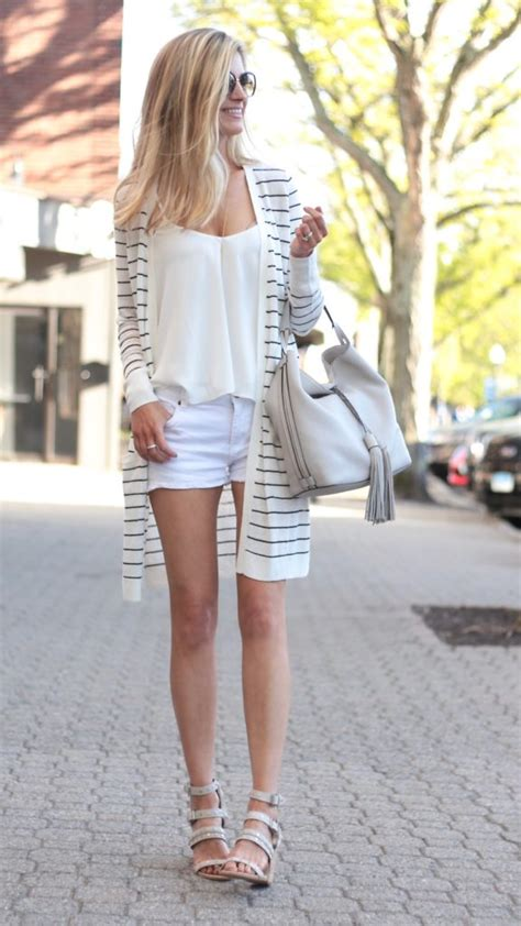 Summer Outfit Ideas with a Long Striped Cardigan Styled 3 Ways