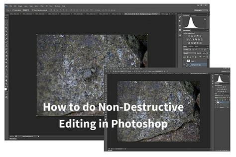 destructive editing  photoshop