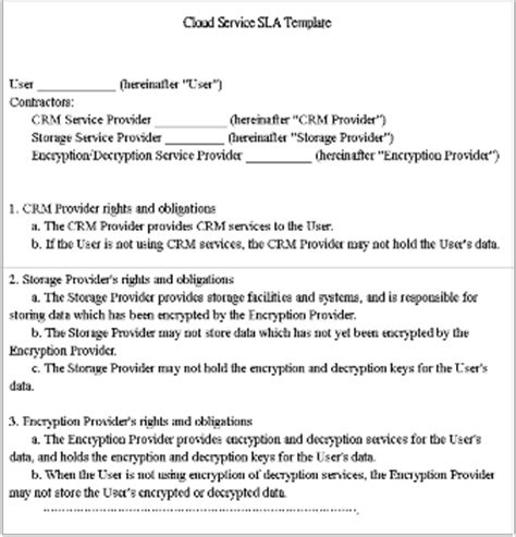 Service Provider Agreement Template by A Crm Based Cryptography Service For Ensuring Security In