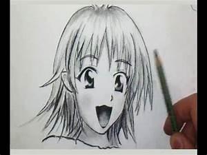 Coiffure Manga Garçon : comment dessiner un visage manga de fille tutoriel youtube ~ Medecine-chirurgie-esthetiques.com Avis de Voitures