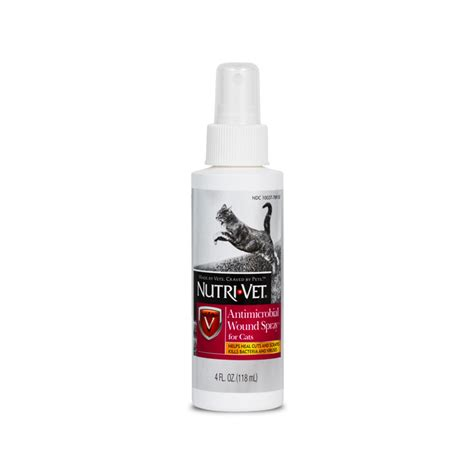 nutri vets wound spray  cats   long acting solution