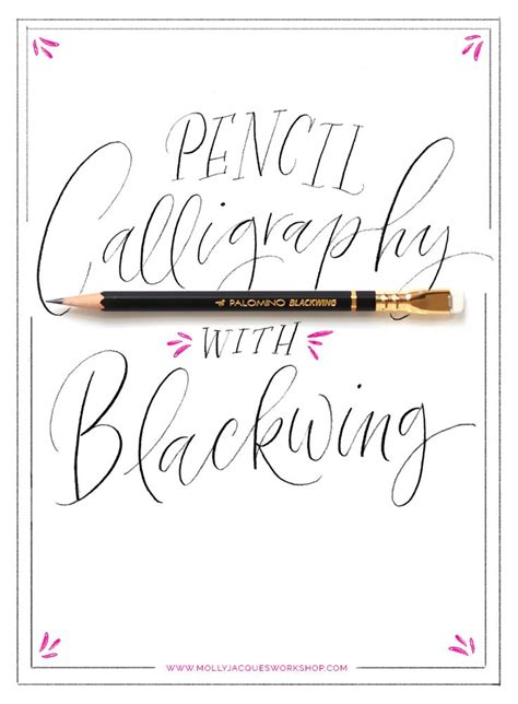 Pencil Calligraphy @mollyjacques  ♥ Fonts & Letters  Pinterest  Calligraphy, Blog And Workshop