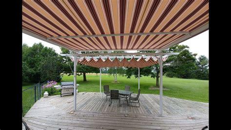 retractable fabric pergola canopy tension shade youtube