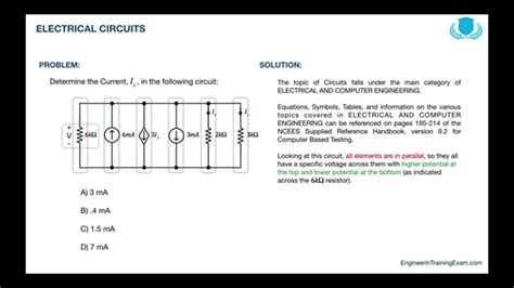 eit practice exam fe exam practice problem electrical circuits youtube
