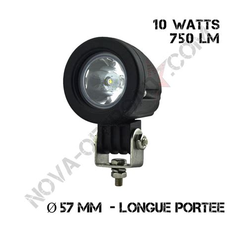 phare led rond 10 watts