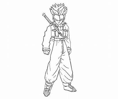 Trunks Dragon Ball Pages Coloring Printable Future