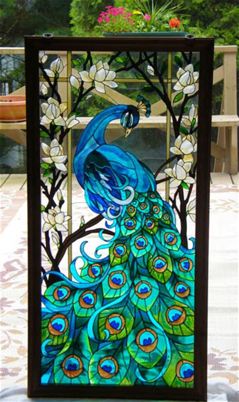 diy faux stained glass windows beesdiycom