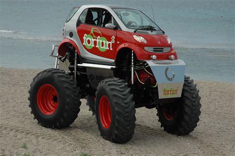 video of monster trucks smart car turned monster truck offroad monsters