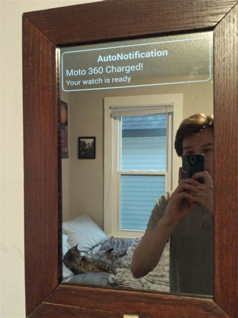 redditor builds smart mirror  displays android wear