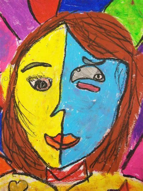 art kids  benavidez elementary  portraits picasso