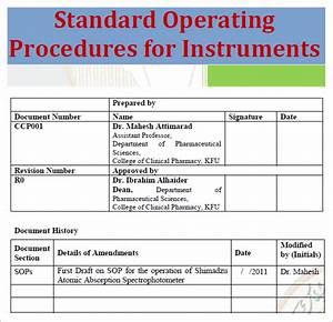 standard operating procedure template excel pdf formats With standard operating guidelines template