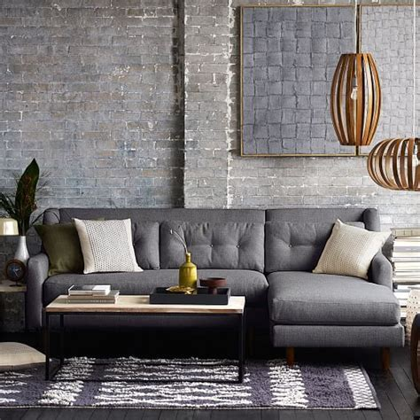 west elm crosby sofa sectional crosby 2 chaise sectional west elm