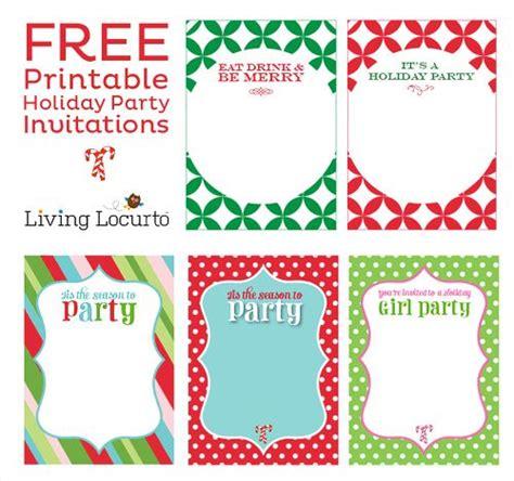 free printable diy holiday party invitations christmas