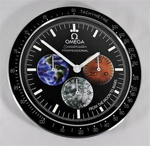 Omega speedmaster from the moon to mars dealers showroom for Omega speedmaster wall clock