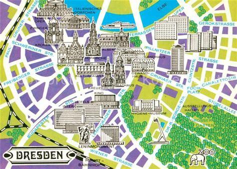 ak ansichtskarte dresden stadtplan mit