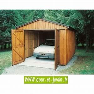 Garage Voiture En Bois : garage bois en kit abri voiture pas cher garage a monter ~ Dallasstarsshop.com Idées de Décoration