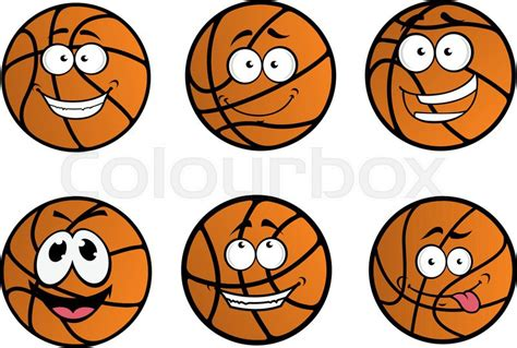 Fauteuil Ballon De Basket by Cartooned Basketball Ball Characters With Funny Faces And