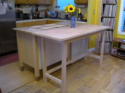 kitchen island ikea canada kitchen island was extended by me building a table to 5085