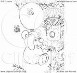 Coloring Honey Bear Outline Balloon Hive Float Royalty Using Illustration Clipart Bannykh Alex Rf sketch template
