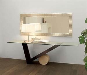 Plateau Deco Design : console en verre 50 id es de d coration d 39 int rieur ~ Teatrodelosmanantiales.com Idées de Décoration