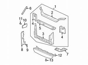 Buick Rendezvous Radiator Support Air Deflector  Front