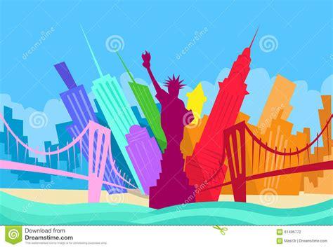 york abstract skyline city skyscraper stock vector