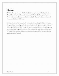 hotel management system final report With hotel management system documentation pdf