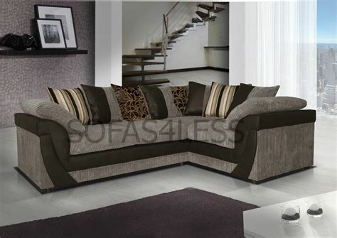 Black And Gray Sofa by New Lush Corner Sofa In Jumbo Fabric With Leather Match