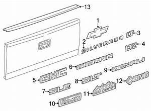 Chevrolet Silverado 2500 Hd Tailgate Emblem  6 6 Ft Box