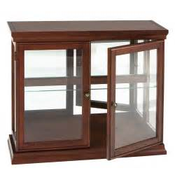furniture kitchener southern enterprises door curio with mirrored back wall classic mahogany