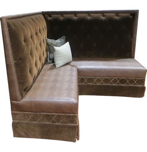 kitchen banquette furniture luxury tufted velvet corner banquette with nailheadstest