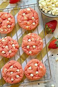 Strawberry Cookies - White Chocolate Strawberry Cake Mix ...