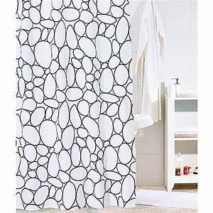 Duschvorhang Schwarz Weiß : venus textil duschvorhang stone 180 x 200 cm schwarz wei 3737 null dadf null dad ~ Yasmunasinghe.com Haus und Dekorationen