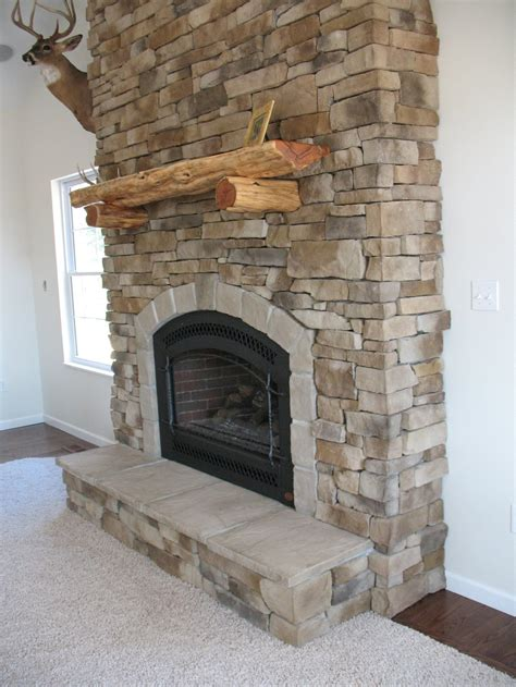 Fireplace Veneered House Ideas Brick Wall Rustic Stone