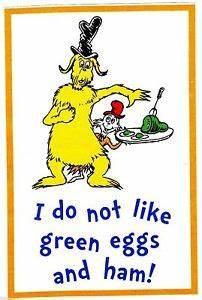 "3-6.5"" DR SEUSS CAT HAT GREEN EGGS & HAM CHARACTER CUSTOM ..."