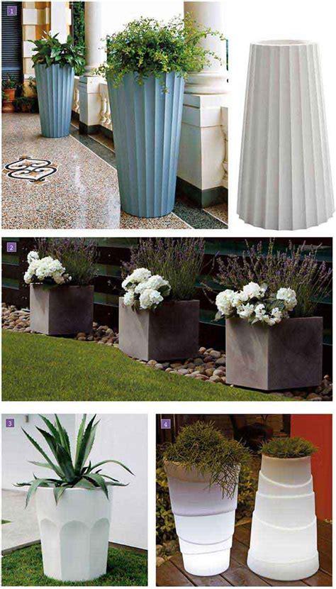 vasi in polietilene vasi grandi da giardino per arredare fai da te in giardino