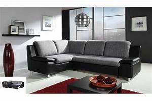 Canapé Tissu Noir : salon cuir tissu canape fauteuils accueil design et mobilier ~ Teatrodelosmanantiales.com Idées de Décoration